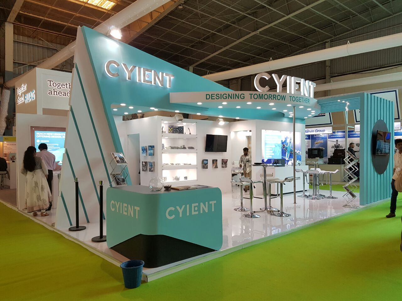 Exhibition Stand Builders Bangalore : Our recent work for cyient in aero india bangalore feb