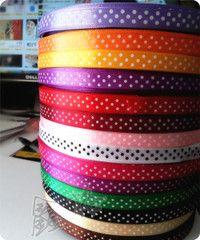 diy手工织带波点织带1cm/14色  11元每色一码