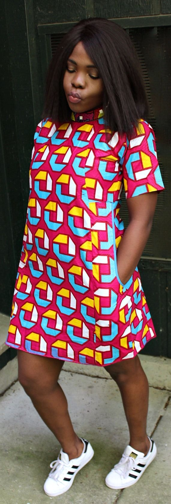 Free ankara shirt dress perfect free dress for any occasion can be