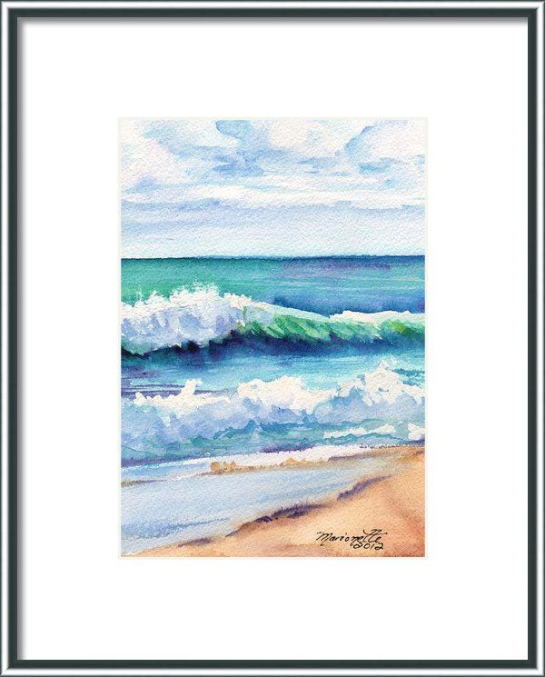 Ocean Waves Of Kauai I Framed Print By Marionette Taboniar