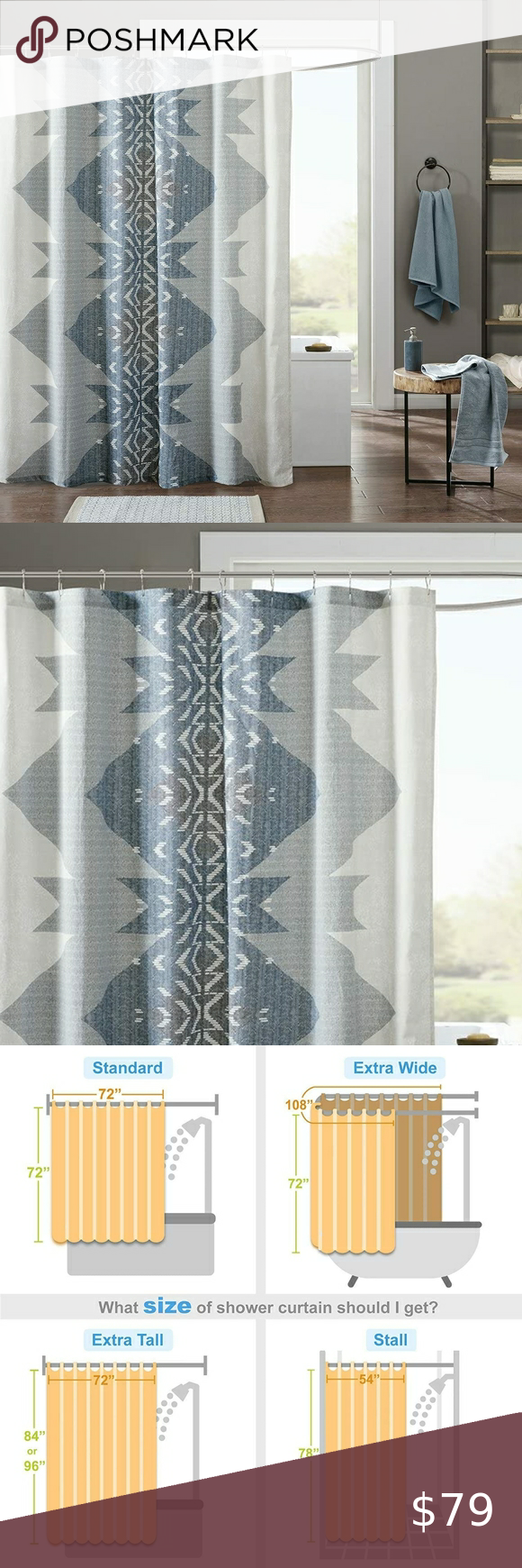 Ink Ivy Nova Abstract Shower Curtain Blue Abstract Shower Curtain Curtains Ink Ivy Ink and ivy shower curtain