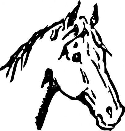 dibujo silueta del perfil cabeza caballo  Buscar con Google