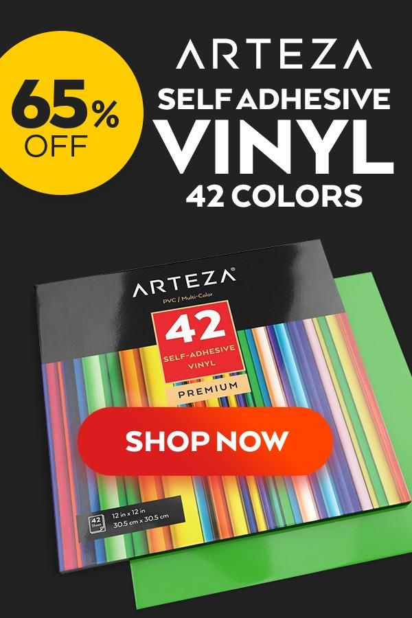 Self Adhesive Vinyl Assorted Colors 12x12 Sheets Set Of 42 Adhesive Vinyl Cricut Vinyl Vinyl Projects