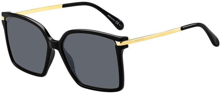 Givenchy Square Propionate & Metal Sunglasses