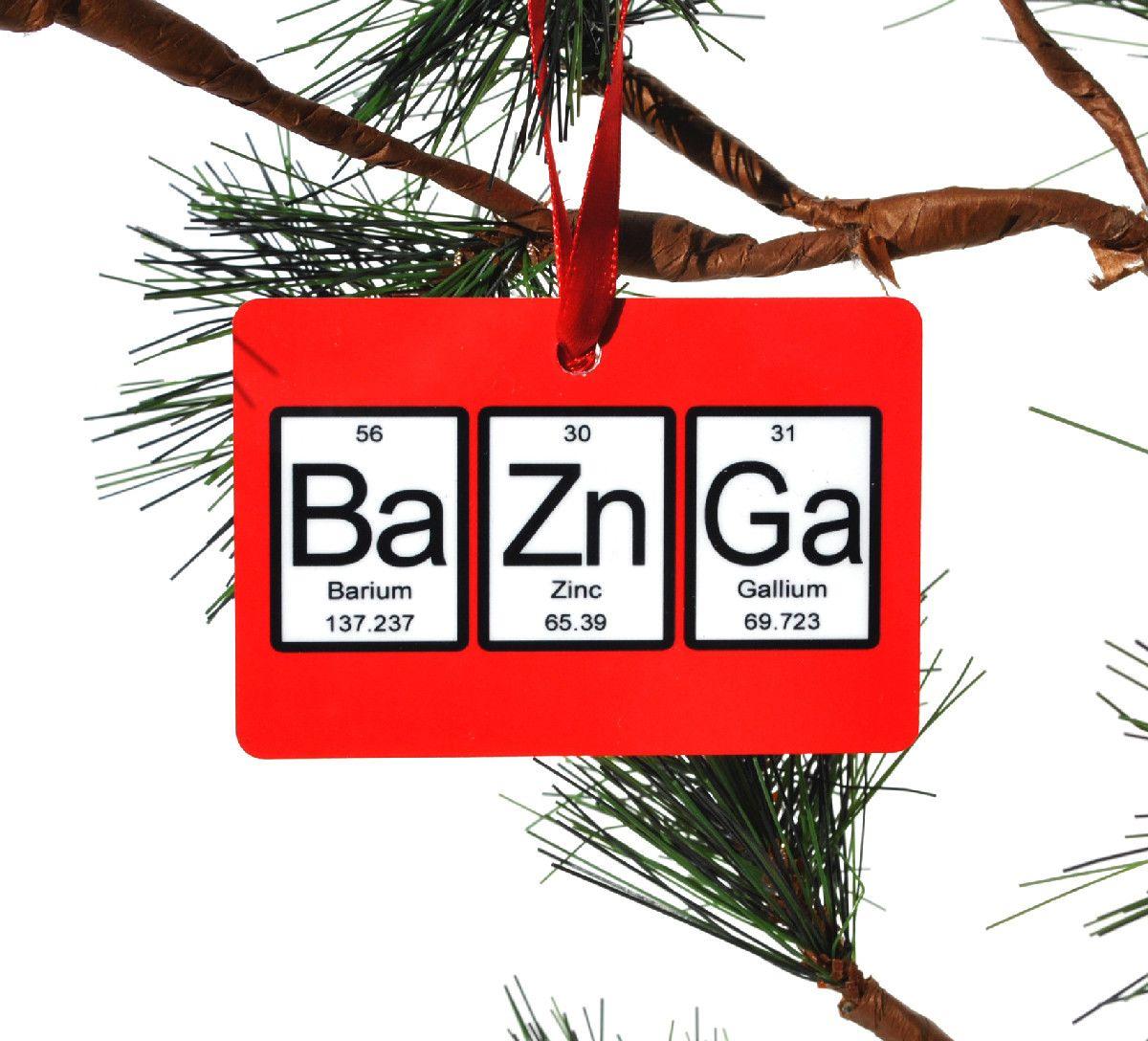 Bazinga periodic table of elements christmas ornament periodic bazinga periodic table of elements christmas ornament gamestrikefo Image collections