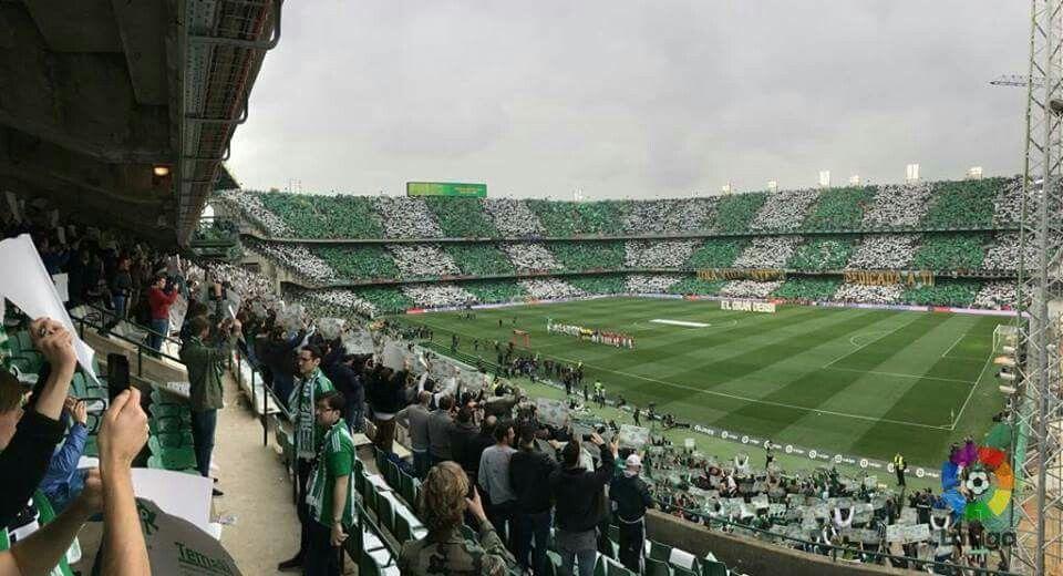 Mosaico Da Torcida Do Real Betis Hoje No Classico Contra O Sevilla Torcida Torcer