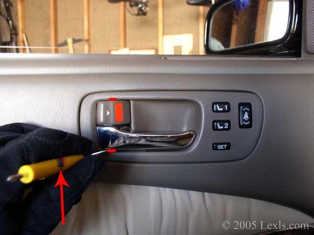 Lexus LS400: How To Remove The Front Inner Door Panel