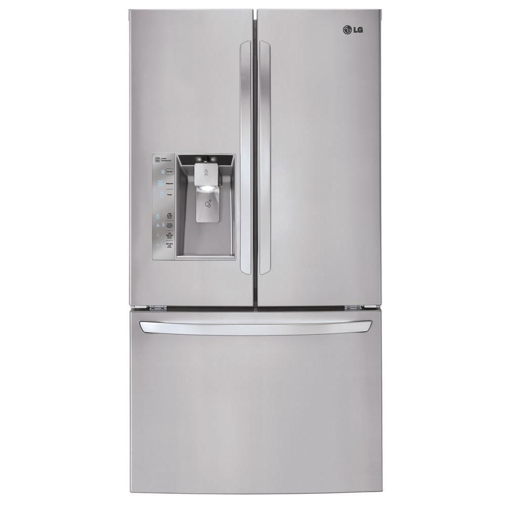 Lg Electronics 31 7 Cu Ft French Refrigerator In Stainless Steel