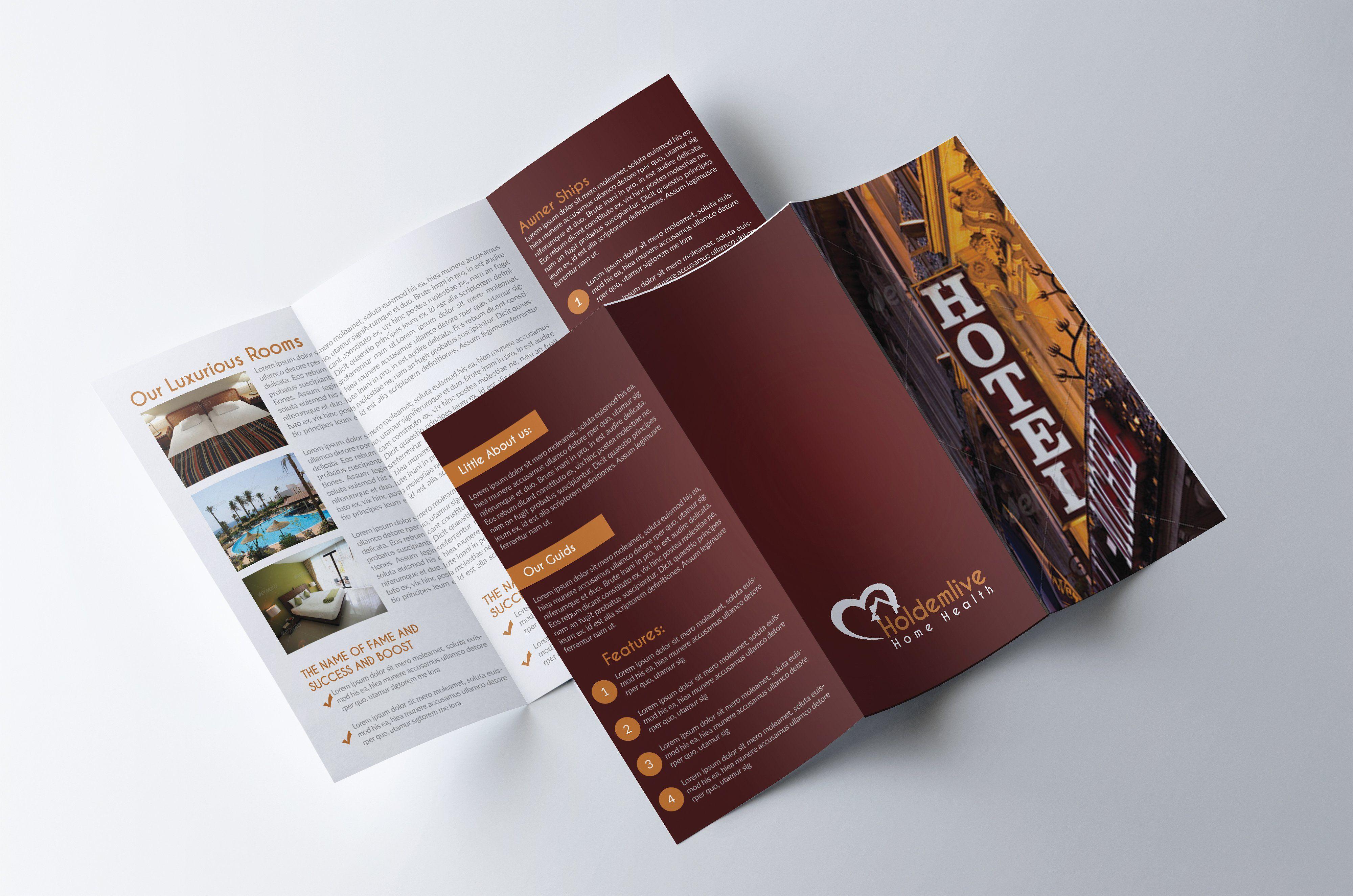 Hotel Trifold Brochure Brochure Design Template Trifold Brochure Design Free Brochure Template