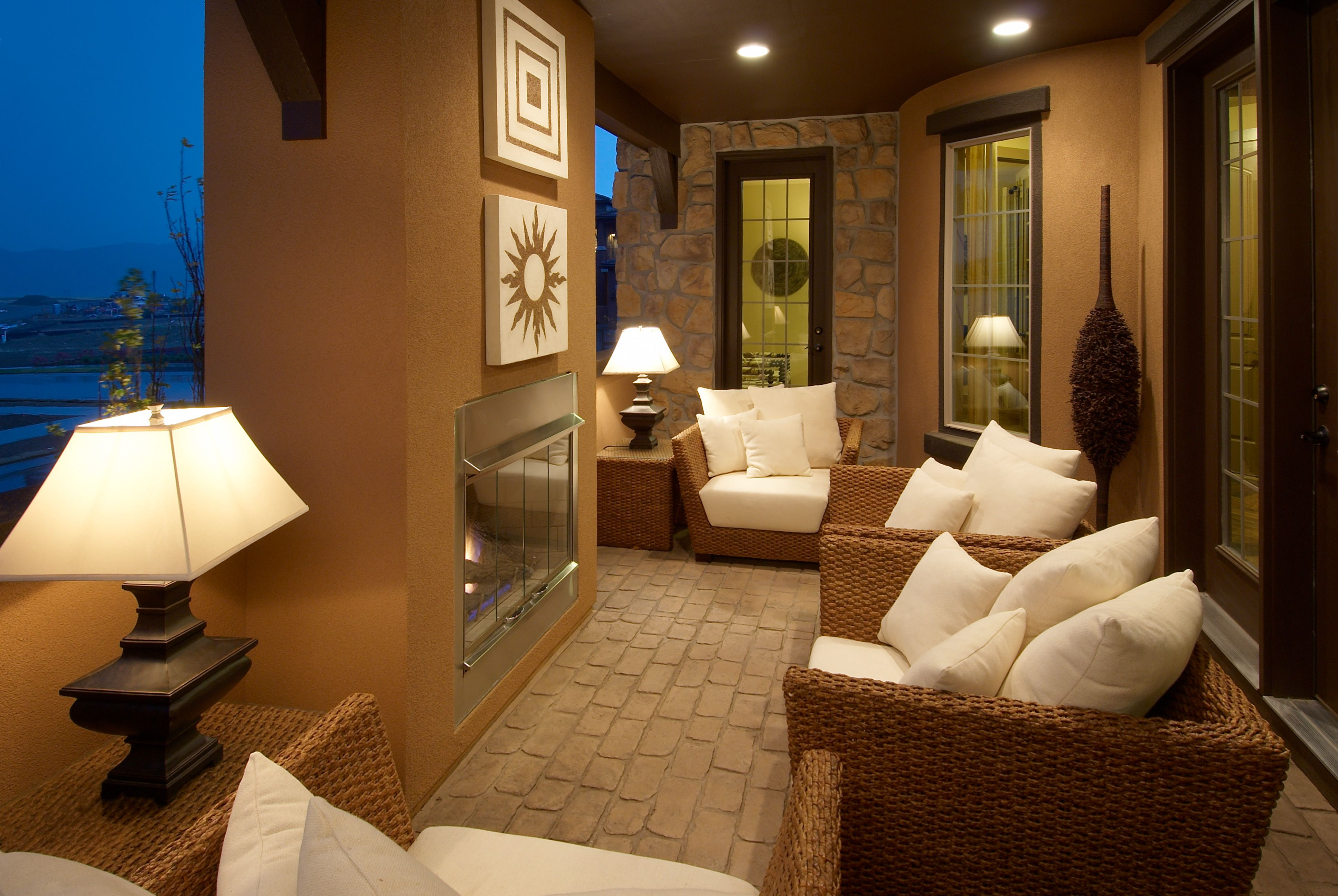 Great outdoor fireplace and space