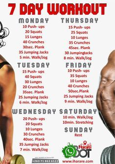 #LockdownTip 7 Day Exercise Program To Stay Fit And Healthy Without Going To The Gym!