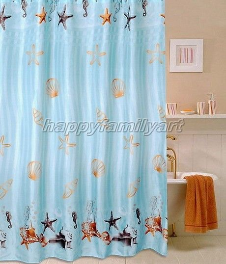 Seashell Shower Curtain For My Mermaid Bathroom Girl Bathrooms