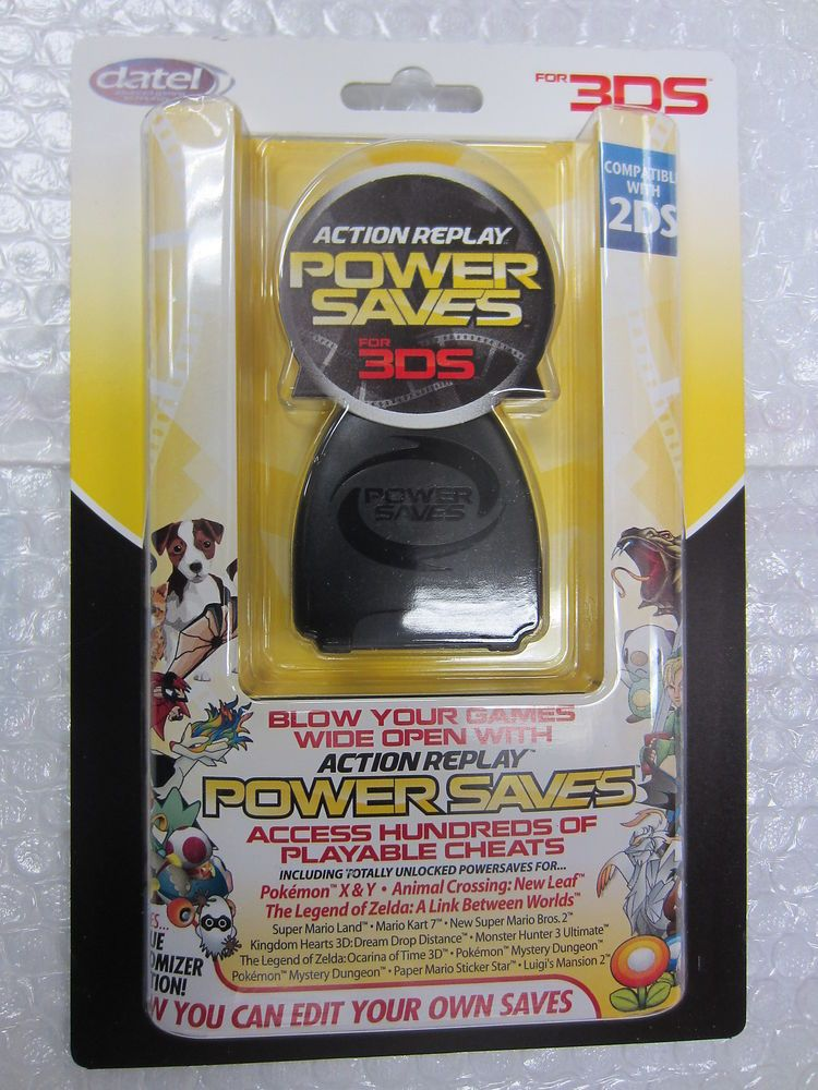 Datel Action Replay Power Saves for 3DS & 2DS Cheat Codes Pokemon