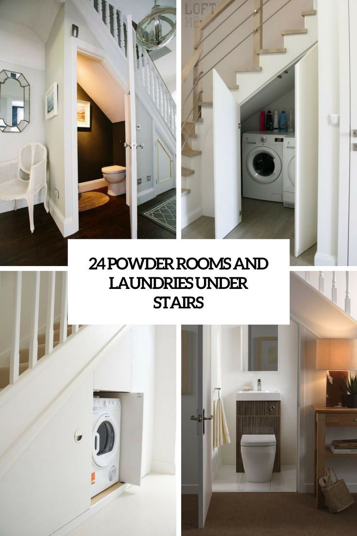 24 powder rooms and laundries under stairs laundry room on laundry room wall covering ideas id=14382