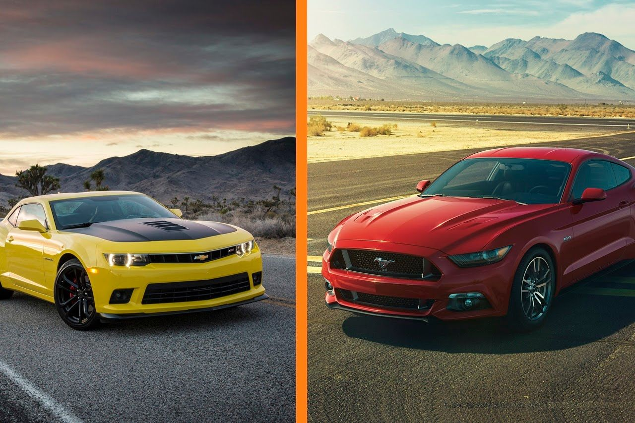 Ford mustang gt 2015 vs chevrolet camaro 2015 wallpaper