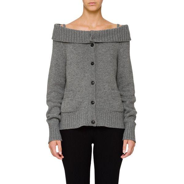 Amazon Sale Online Order Cashmere off shoulder cardigan - Grey Prada Buy Cheap Visit Cheap High Quality pN5Atp
