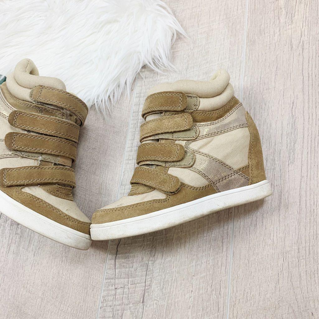aldo gold sneakers