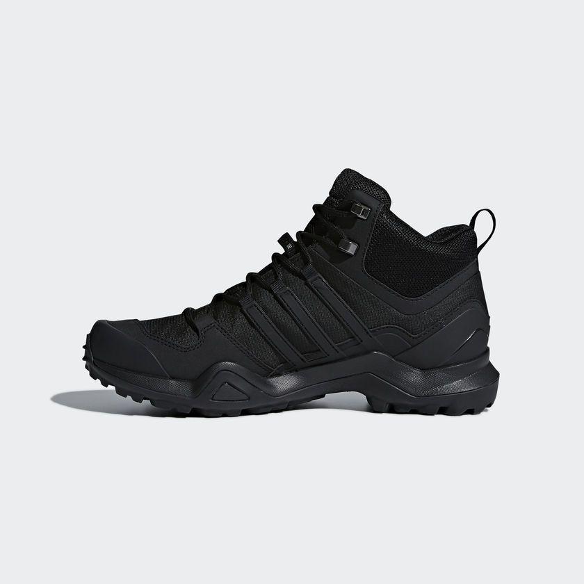 177648f80a1ed Adidas Mens Outdoor Terrex Swift R2 Mid GTX Core Black Shoes - CM7500