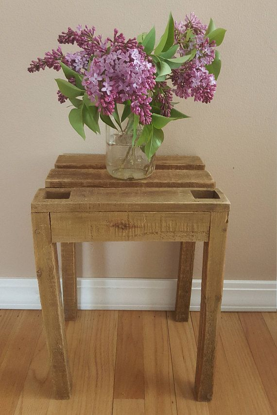 Vintage Wood Plant Stand, Country Chic, Home Decor, Vintage, Home ...