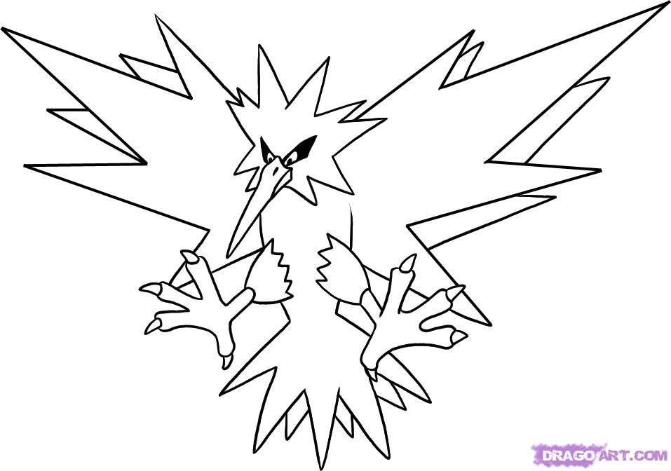 Legendary Pokemon coloring pages for kids, pokemon characters ... | 672x957