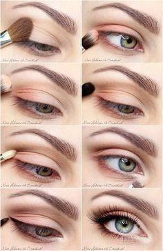 Resultado de imagen para ojos maquillados naturales paso a paso #maquillaje #makeup