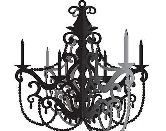 Black and elegant petite and sweet paper chandelier victorian black and elegant petite and sweet paper chandelier victorian mozeypictures Images