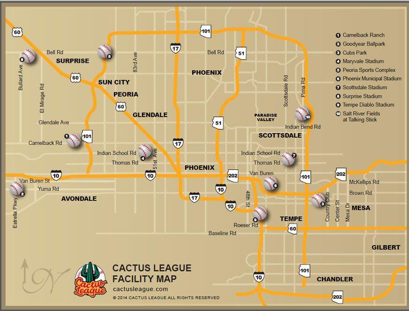 Cactus League Stadiums Map ManTripping Spring training