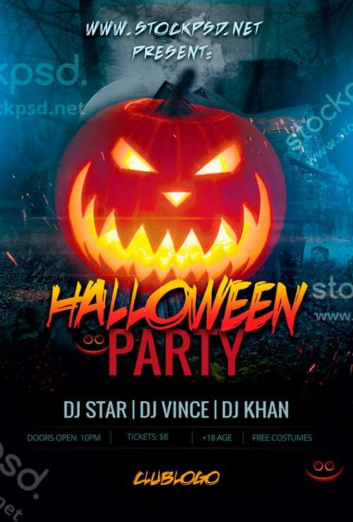 Halloween Party Event Free Psd Flyer Template | Horror Poster