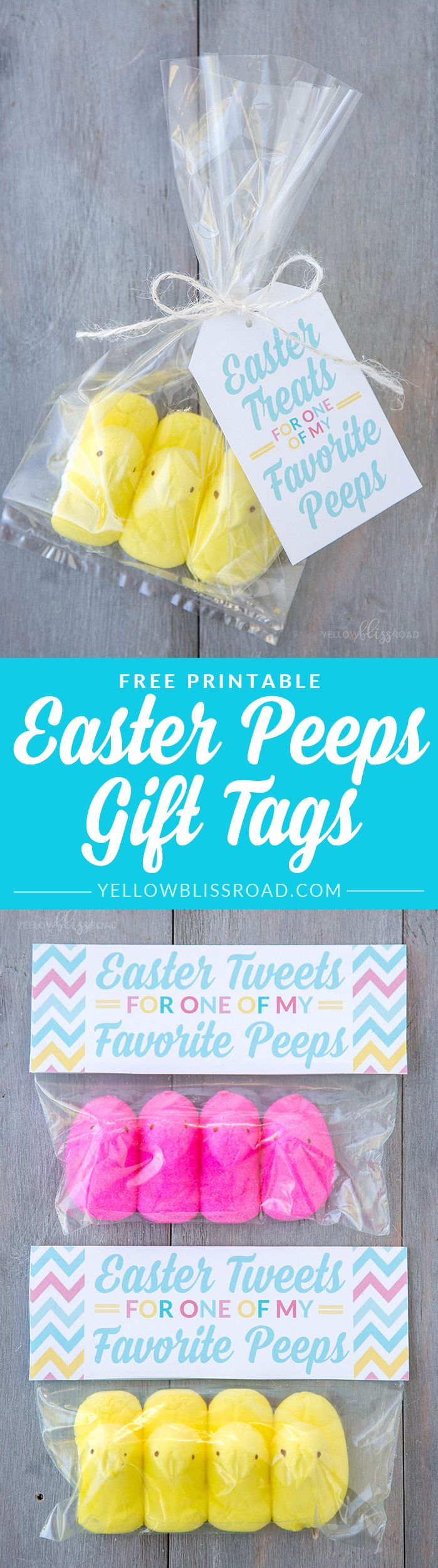 Peeps easter gift idea with free printables free printable gift free printable peeps easter gift tags use these free printable gift tags to make sweet easter gifts for your favorite peeps negle Image collections