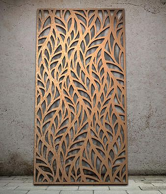 Botanical miles and lincoln laser cut screens laser for Wanddeko outdoor