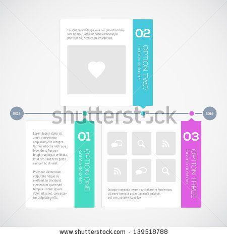 Modern Timeline Design Template By Godruma Via Shutterstock - Timeline design template
