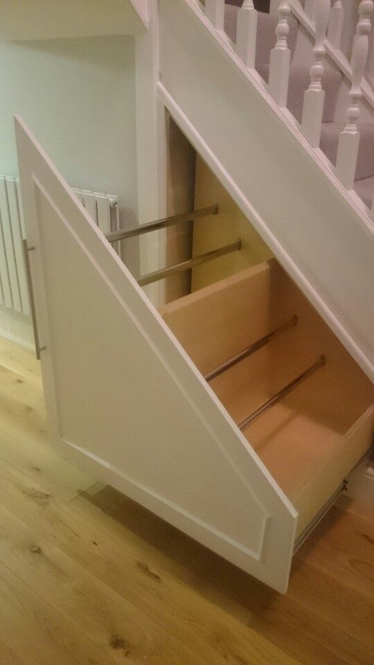 Understairs drawer shoe storage | Understairs storage, Stair storage, Storage