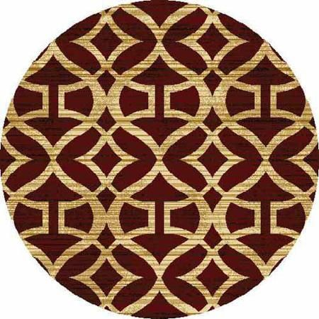 Home Dynamix Royalty Collection Round Area Rug, Red, 3'