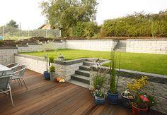 gartengestaltung hanglage gabionen - google-suche | new, Gartengestaltung