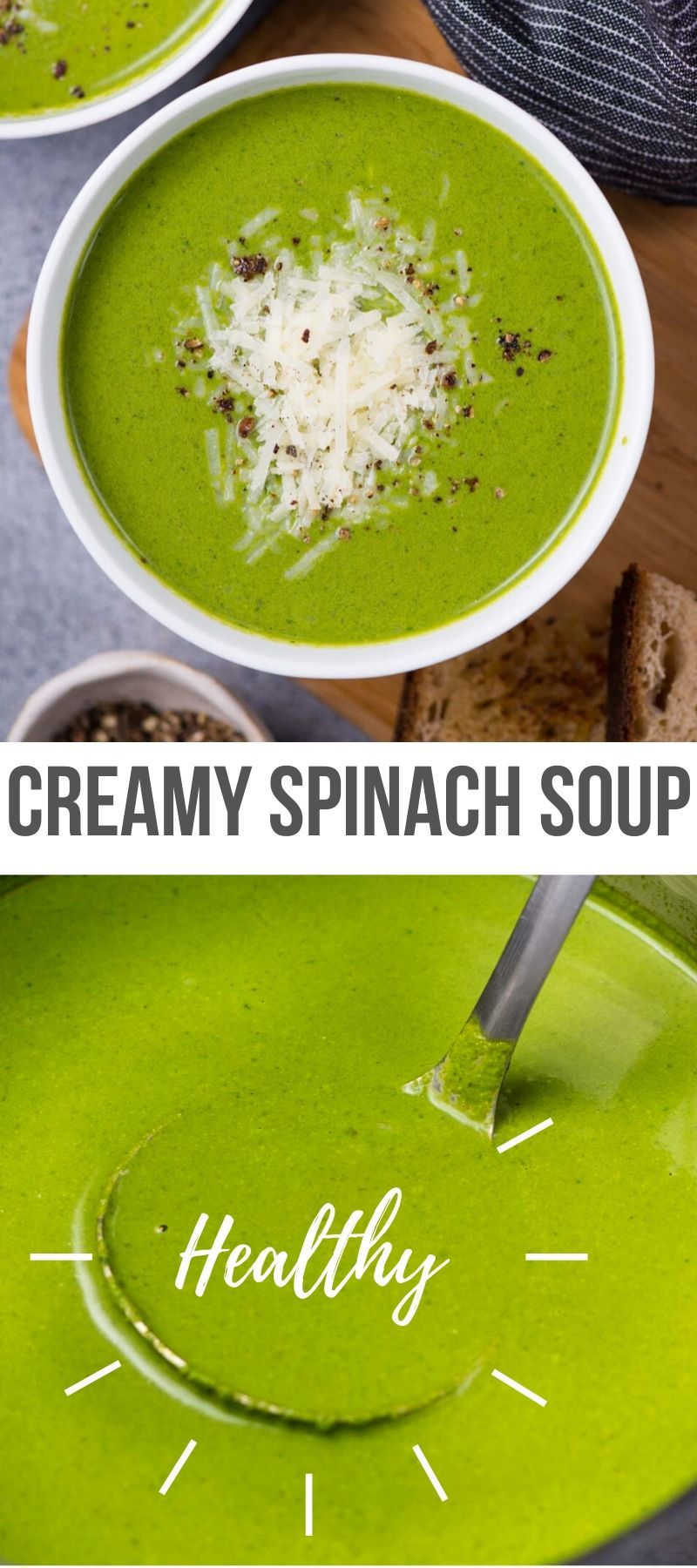 CREAMY SPINACH SOUP - The flavours of kitchen