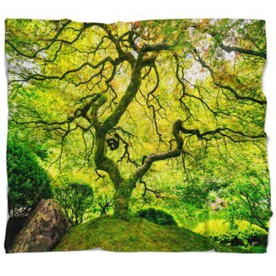 East Urban Home Photography Amazing Tree Blanket | Wayfair #japanesemaple