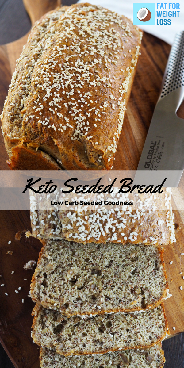 Keto Seeded Bread Recipe Keto Recipes Pinterest Low Carb
