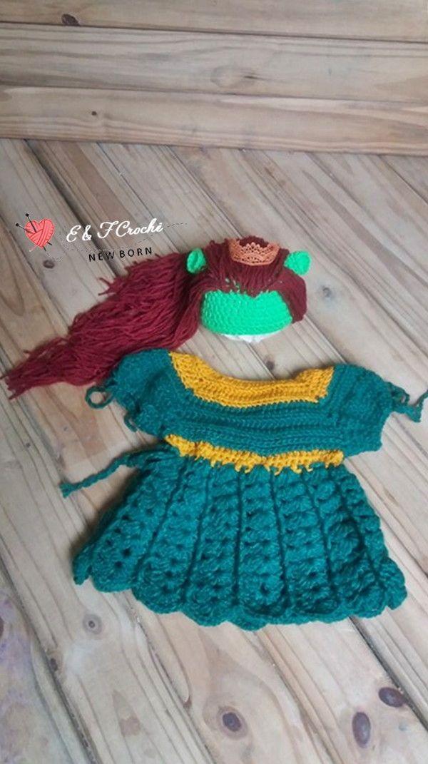 Conjunto Fiona touca + Vestido em crochê. Siga  newborncrocheef e veja  muito mais 💖 10d77cbf0f2
