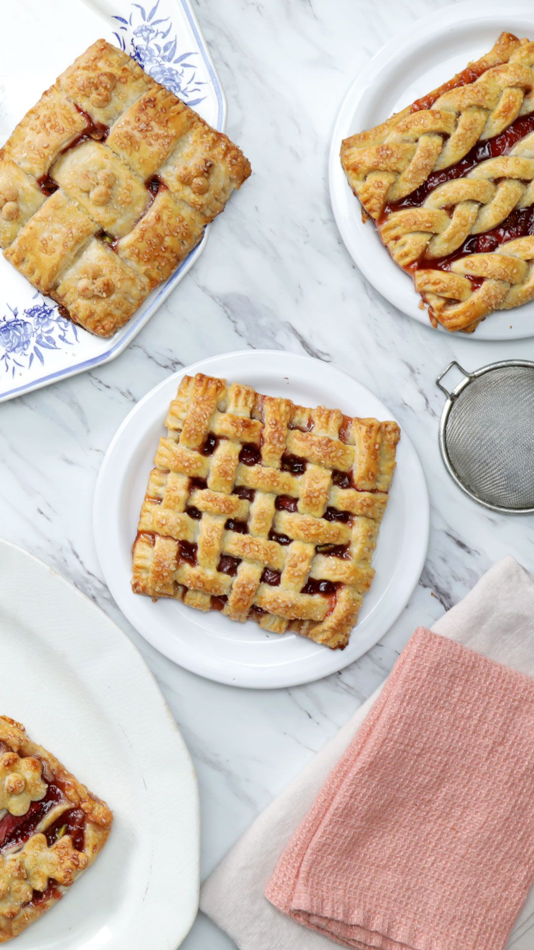 Springtime Strawberry Hand Pies 4 Ways