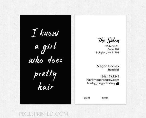 hair salon business cards, hairstylist business cards, hair dresser