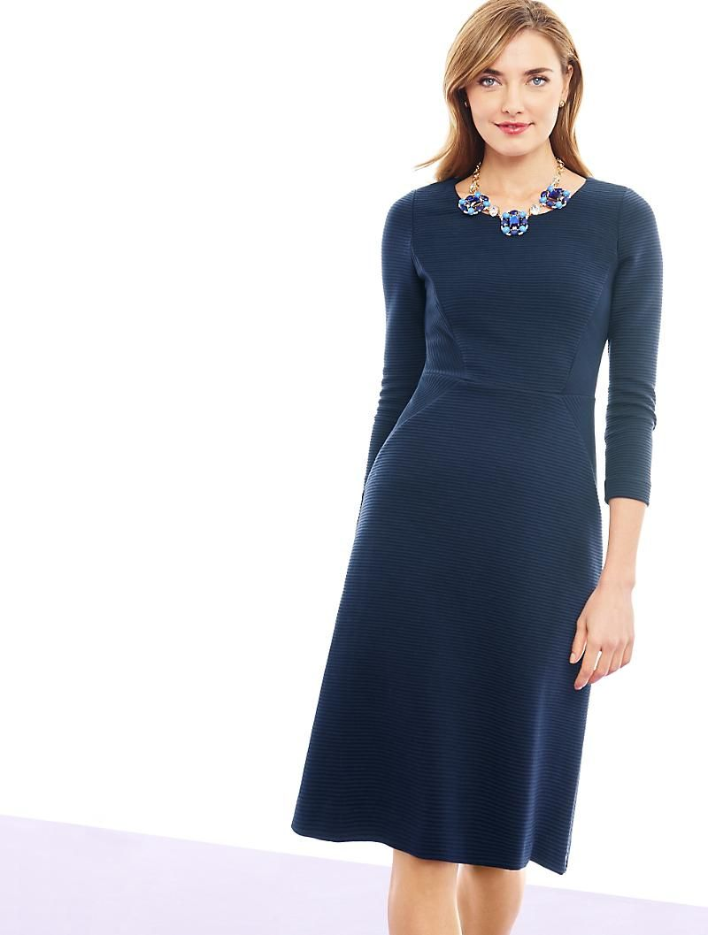 Ottoman Fit Amp Flare Dress Talbots Fit Flare Dress