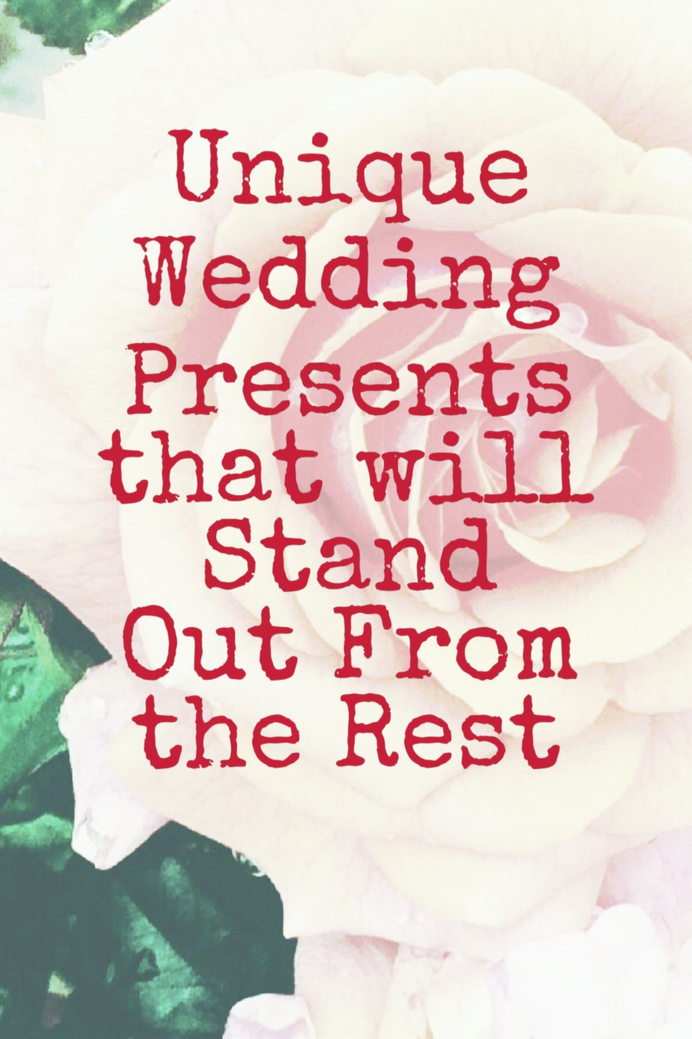 Presents that no one else will buy for the bride and groom. Get them ...