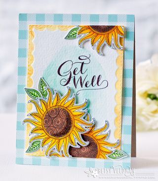 Get Well Card by Betsy Veldman for Papertrey Ink (June 2016)
