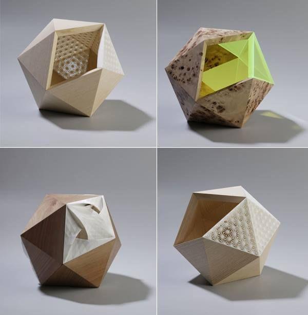 Journal du design Didier Versavel et Jean-Marc Estaque - nouvelle série d'objets mêlant impression 3D, bois et plexi fluo. Infos et images dans l'article.