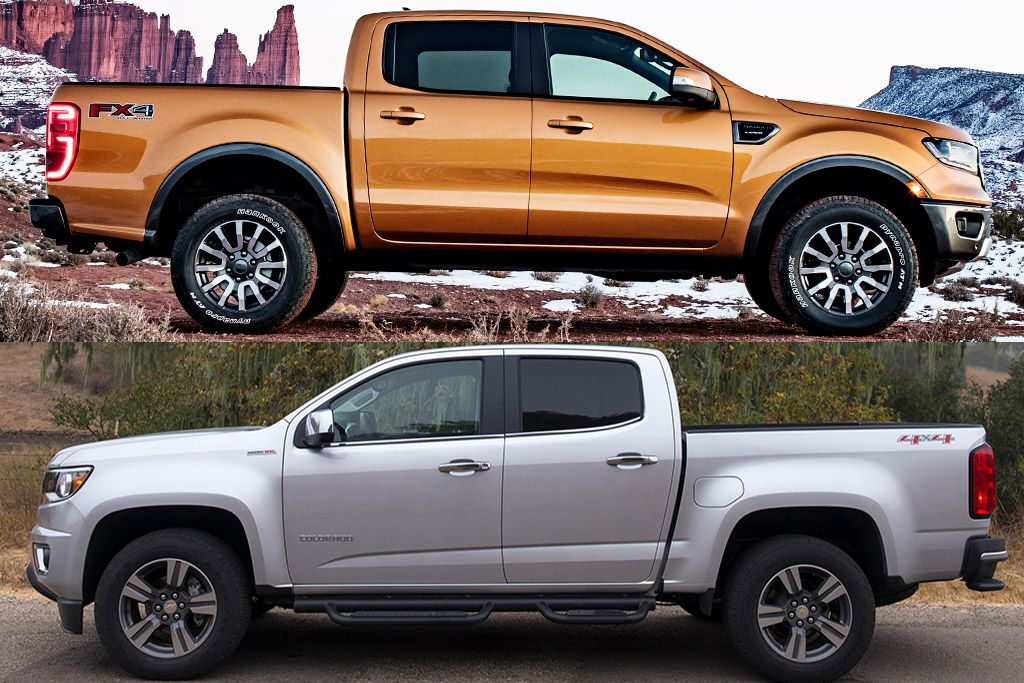 2019 Ford Ranger Vs 2019 Chevrolet Colorado Which Is Better