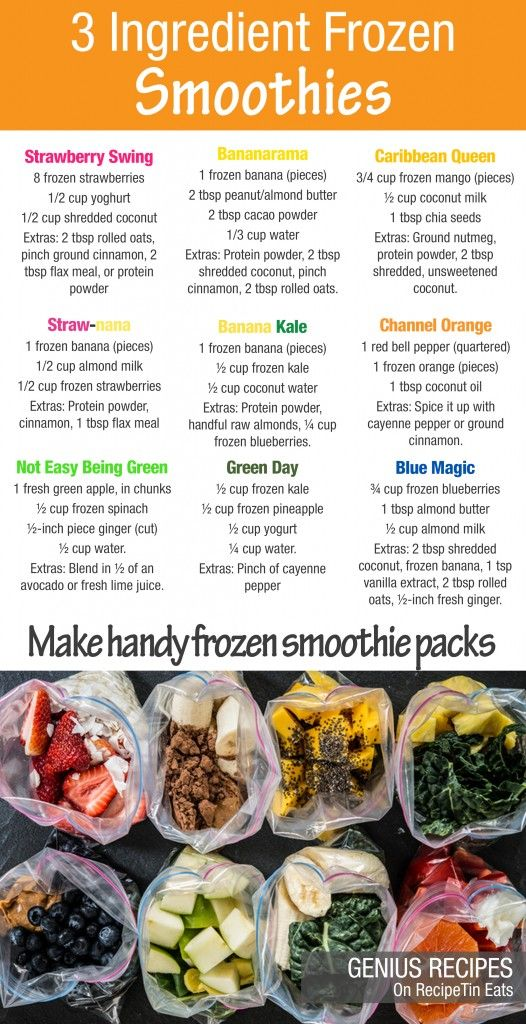 3 Ingredient Frozen Smoothies