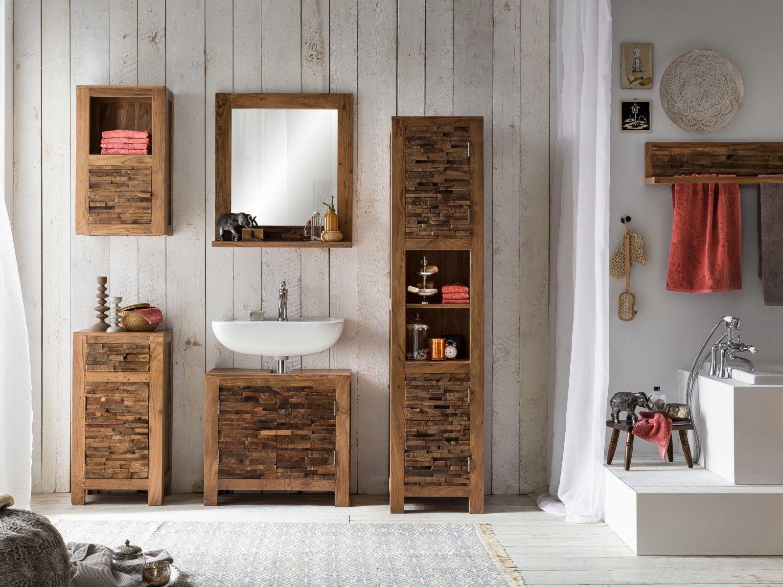 Badmobel Aus Recycelten Holzern In 2020 Neues Badezimmer Waschbeckenunterschrank Badezimmer Inspiration
