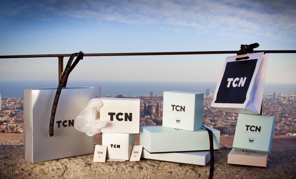 TCN lingerie firm and Barcelona: great combination! #boxes #packaging #paperbags #tcn