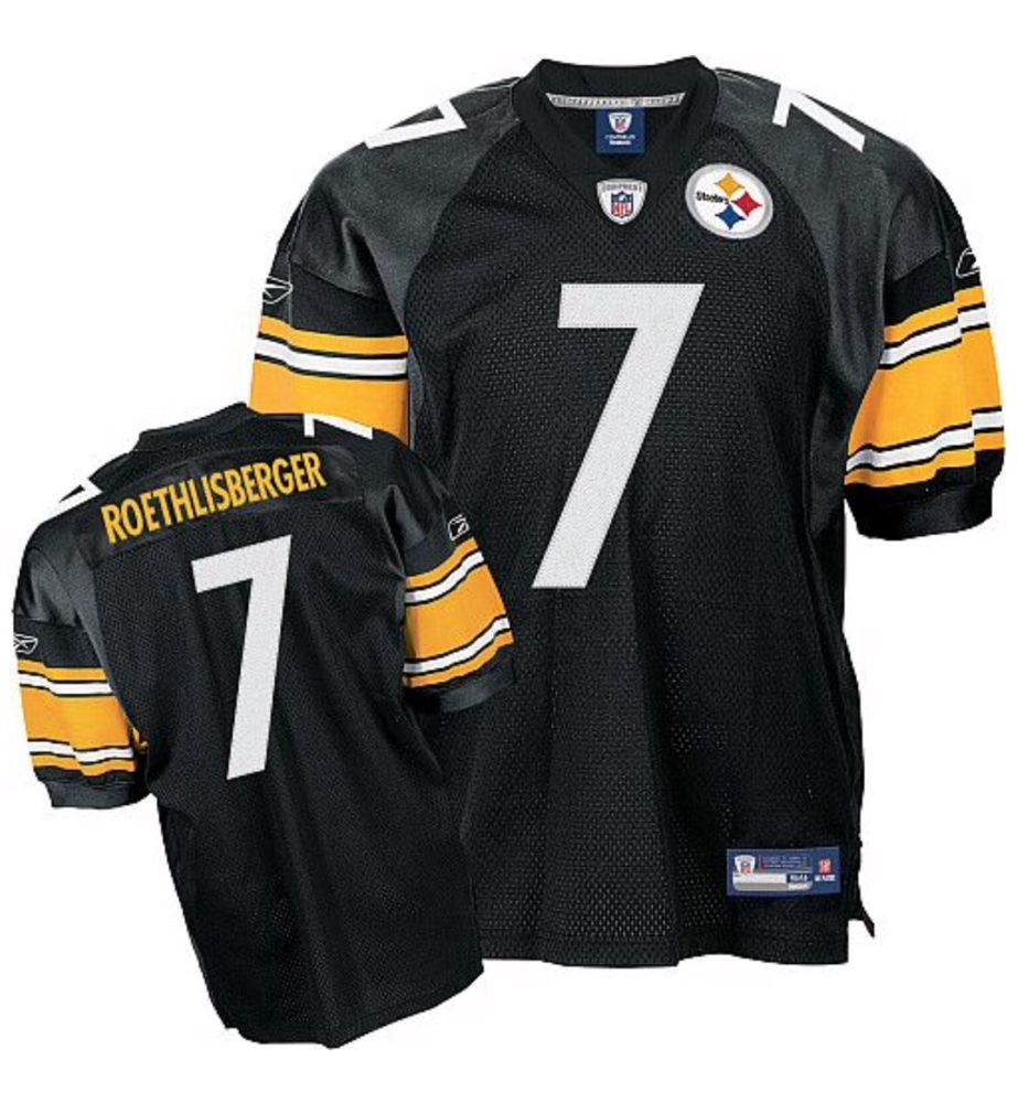 d4ceb9e93a7 Pittsburgh Steelers Ben Roethlisberger  7 Reebok AUTHENTIC Sewn Game Jersey  (60)