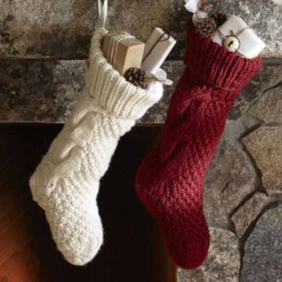 Diy Sweater Sleeve Christmas Stockings